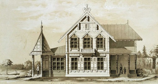 The motives of Russian architecture in 1873-1880, picture 6