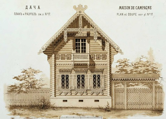 The motives of Russian architecture in 1873-1880, picture 7