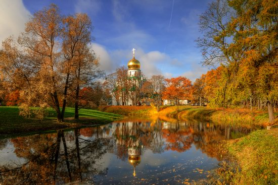 Golden Autumn in Tsarskoye Selo, St. Petersburg, Russia, photo 1