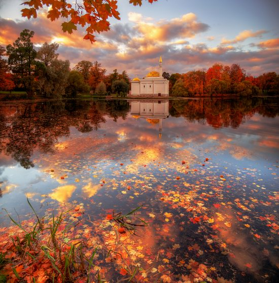 Golden Autumn in Tsarskoye Selo, St. Petersburg, Russia, photo 3