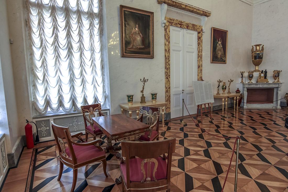 The Interiors Of The Alexander Palace In Tsarskoye Selo