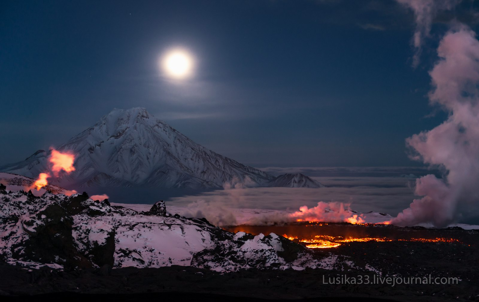 The Eruption Of The Volcano Tolbachik In Kamchatka