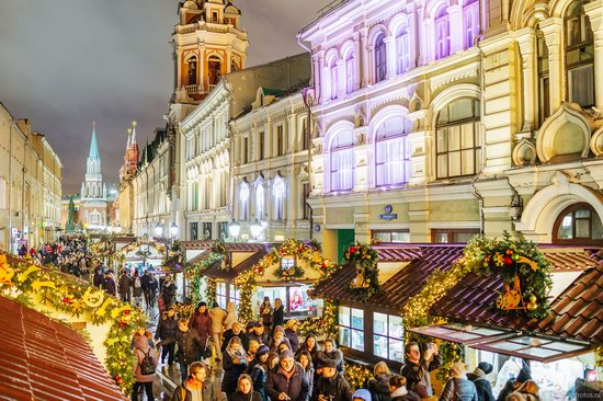 The center of Moscow decorated for New Year holidays, Russia, photo 1