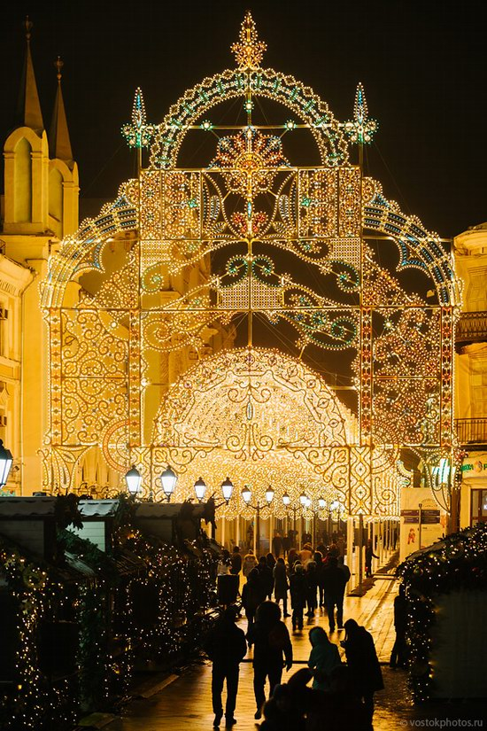 The center of Moscow decorated for New Year holidays, Russia, photo 10
