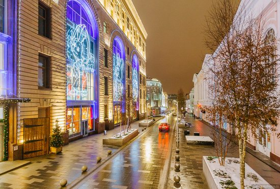 The center of Moscow decorated for New Year holidays, Russia, photo 12