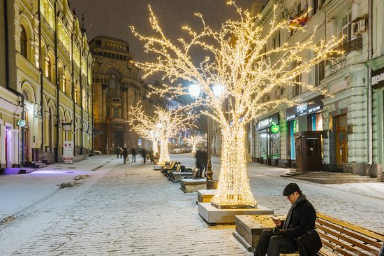 The center of Moscow decorated for New Year holidays, Russia, photo 13