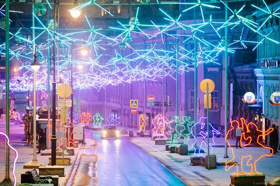 The center of Moscow decorated for New Year holidays, Russia, photo 16