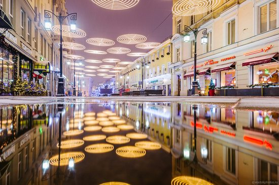 The center of Moscow decorated for New Year holidays, Russia, photo 18