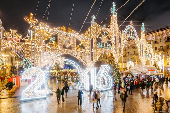 The center of Moscow decorated for New Year holidays, Russia, photo 21