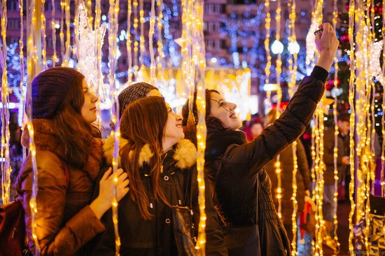 The center of Moscow decorated for New Year holidays, Russia, photo 23