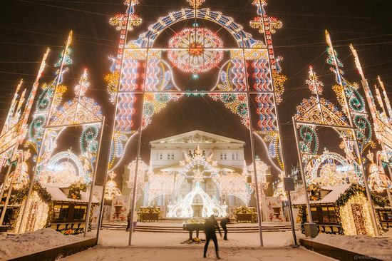The center of Moscow decorated for New Year holidays, Russia, photo 24