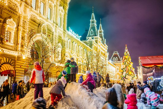 The center of Moscow decorated for New Year holidays, Russia, photo 3