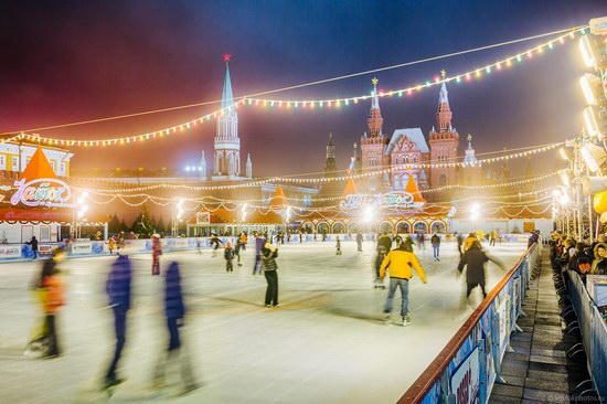 The center of Moscow decorated for New Year holidays, Russia, photo 5