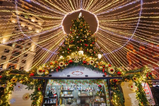 The center of Moscow decorated for New Year holidays, Russia, photo 7