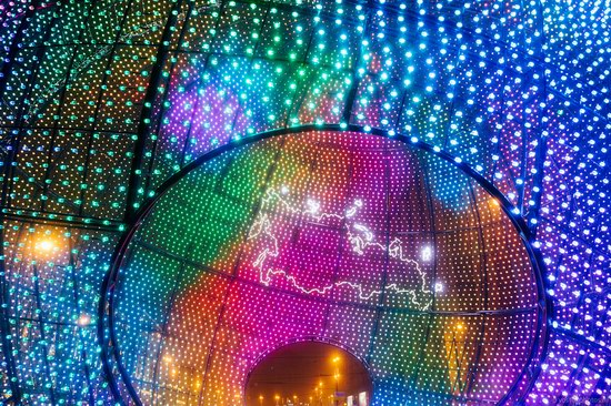 The center of Moscow decorated for New Year holidays, Russia, photo 8