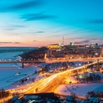 Winter in Ufa – the view from above