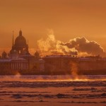 One frosty day in St. Petersburg