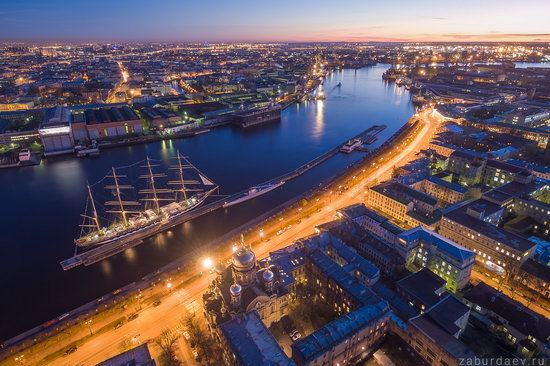 Saint Petersburg at night - the view from above, Russia, photo 1