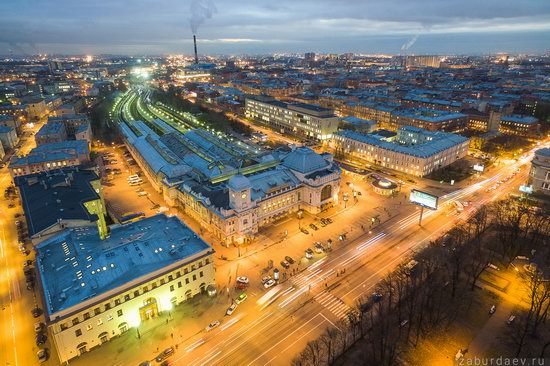 Saint Petersburg at night - the view from above, Russia, photo 10