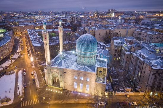 Saint Petersburg at night - the view from above, Russia, photo 11