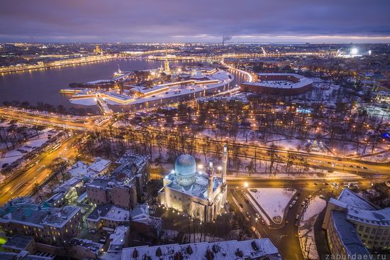 Saint Petersburg at night - the view from above, Russia, photo 12