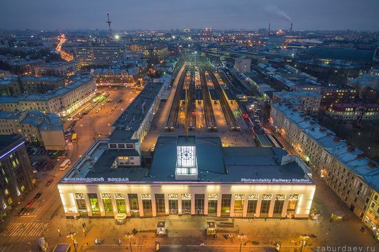Saint Petersburg at night - the view from above, Russia, photo 13