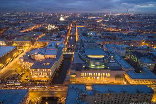 Saint Petersburg at night - the view from above, Russia, photo 14