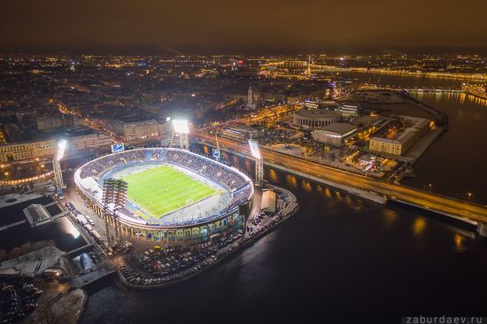 Saint Petersburg at night - the view from above, Russia, photo 15