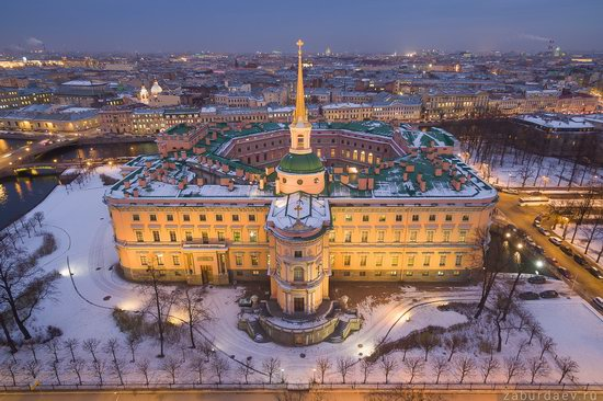 Saint Petersburg at night - the view from above, Russia, photo 16