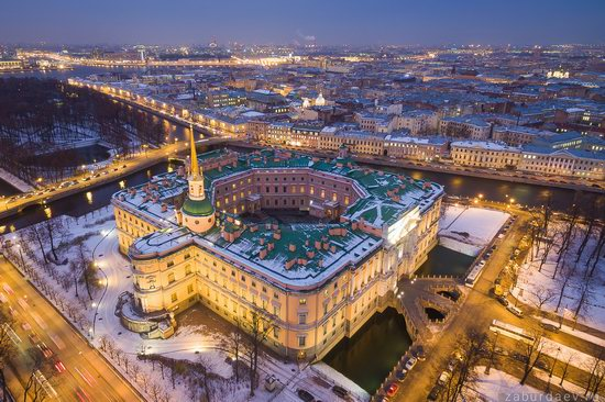 Saint Petersburg at night - the view from above, Russia, photo 17