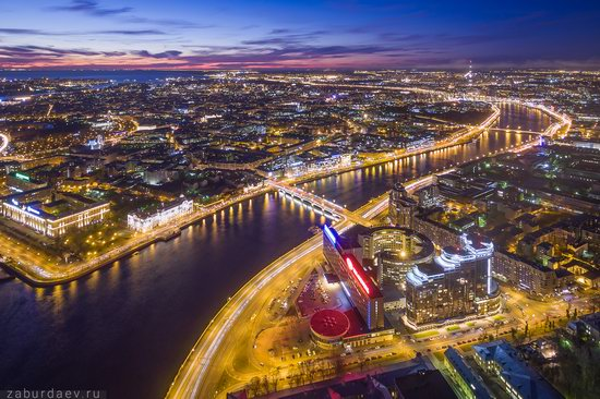 Saint Petersburg at night - the view from above, Russia, photo 2