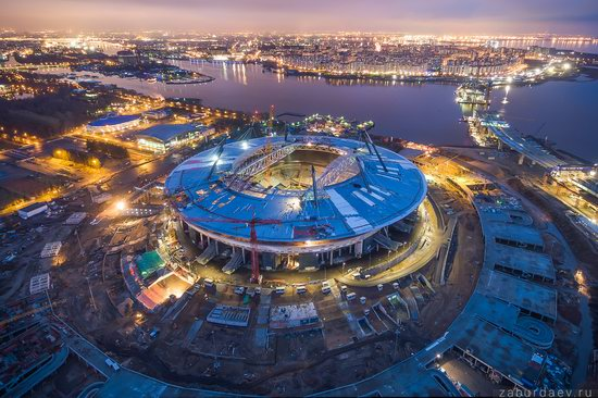 Saint Petersburg at night - the view from above, Russia, photo 21
