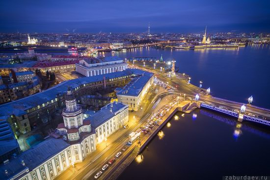 Saint Petersburg at night - the view from above, Russia, photo 23