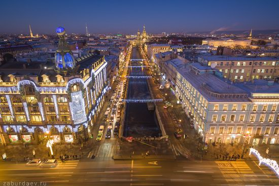 Saint Petersburg at night - the view from above, Russia, photo 24