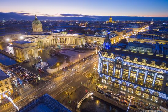Saint Petersburg at night - the view from above, Russia, photo 25