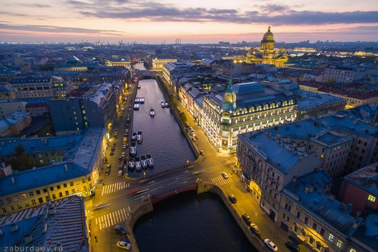 Saint Petersburg at night - the view from above, Russia, photo 4