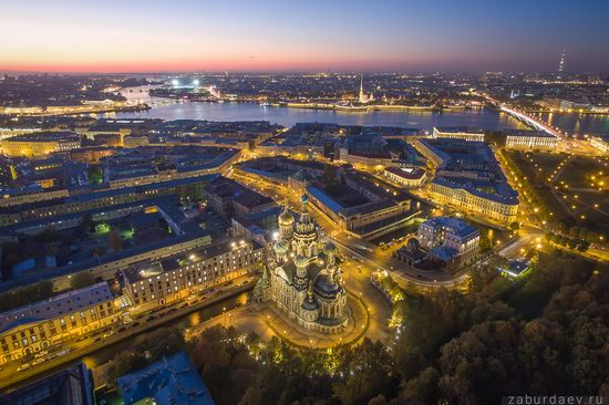 Saint Petersburg at night - the view from above, Russia, photo 5