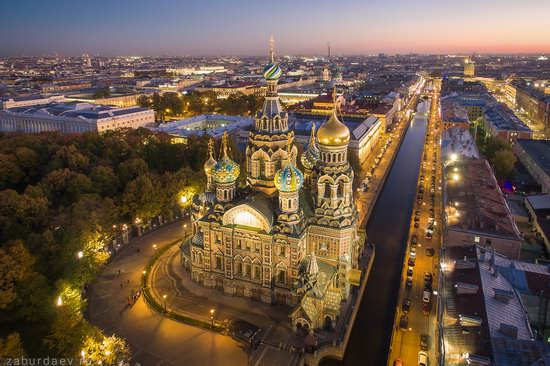 Saint Petersburg at night - the view from above, Russia, photo 6