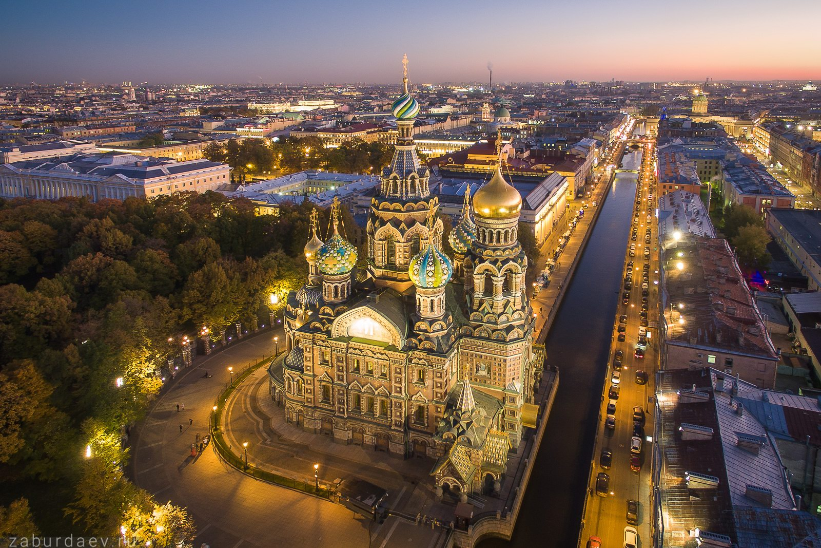 St. Petersburg at night – the view from above · Russia ...