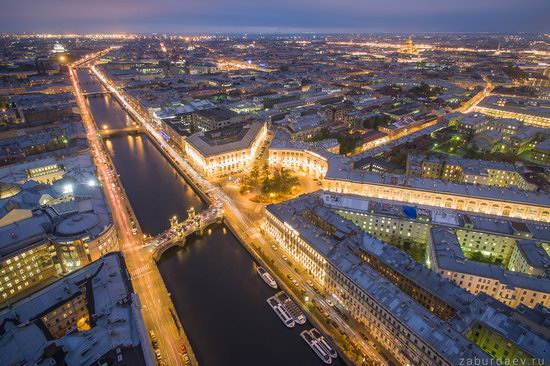 Saint Petersburg at night - the view from above, Russia, photo 7