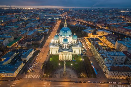 Saint Petersburg at night - the view from above, Russia, photo 8