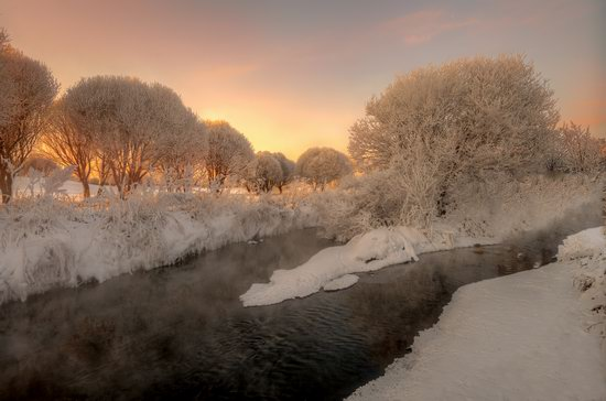 Frosty January on Murinskiy Stream, St. Petersburg, Russia, photo 2