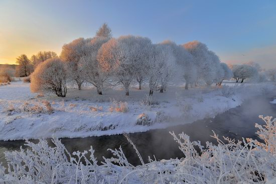 Frosty January on Murinskiy Stream, St. Petersburg, Russia, photo 4