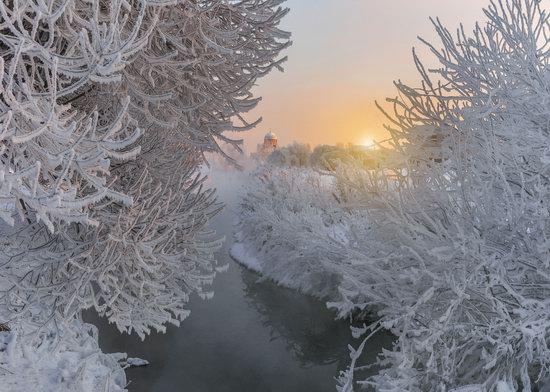 Frosty January on Murinskiy Stream, St. Petersburg, Russia, photo 5