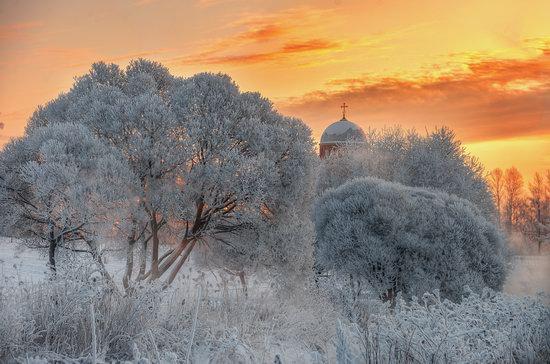 Frosty January on Murinskiy Stream, St. Petersburg, Russia, photo 7