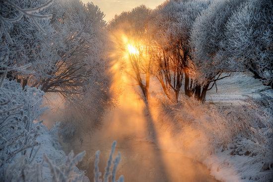 Frosty January on Murinskiy Stream, St. Petersburg, Russia, photo 8