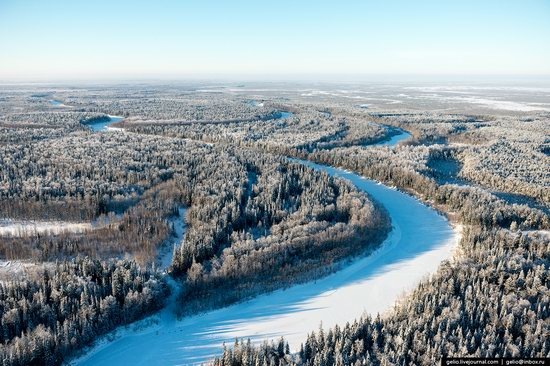 Khanty-Mansi Autonomous Okrug from above, Siberia, Russia, photo 1