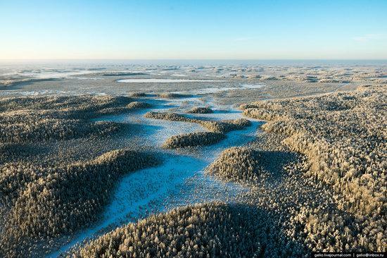 Khanty-Mansi Autonomous Okrug from above, Siberia, Russia, photo 4