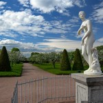 The Museum-Reserve Peterhof at the time of flowering tulips