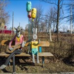 Strange self-made outdoor toys in Russia